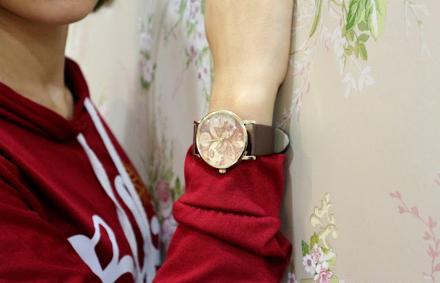 Zaful Map Print Watch