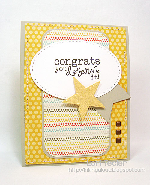 Congrats card-designed by Lori Tecler/Inking Aloud-stamps from Verve Stamps