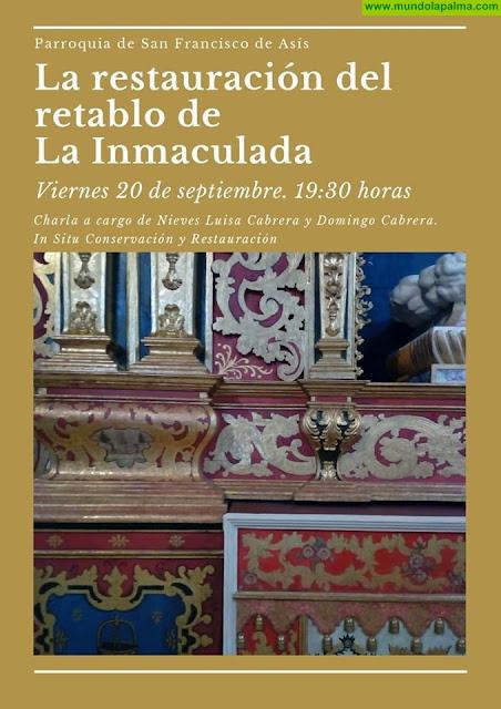 """Charla """"Restauración del Retablo de La Inmaculada"""""""