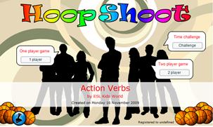 http://www.eslkidsworld.com/Interactive%20games/Grammar%20Games/Action%20Verbs/action%20verbs%20basketball%20quiz.html