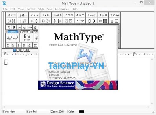 MathType - Download MathType 6.9, Gõ Công Thức Toán Học a