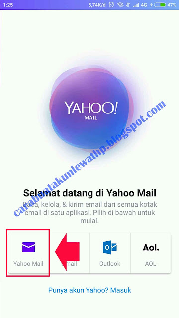 Daftar Email Yahoo Lewat HP