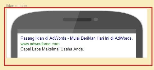 iklan selular google adwords