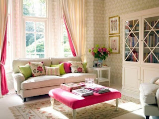 decoración sala femenina