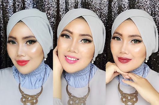 Wet n Wild Glam Look : Silver Smokey Eyes with 3 Lipstick Options