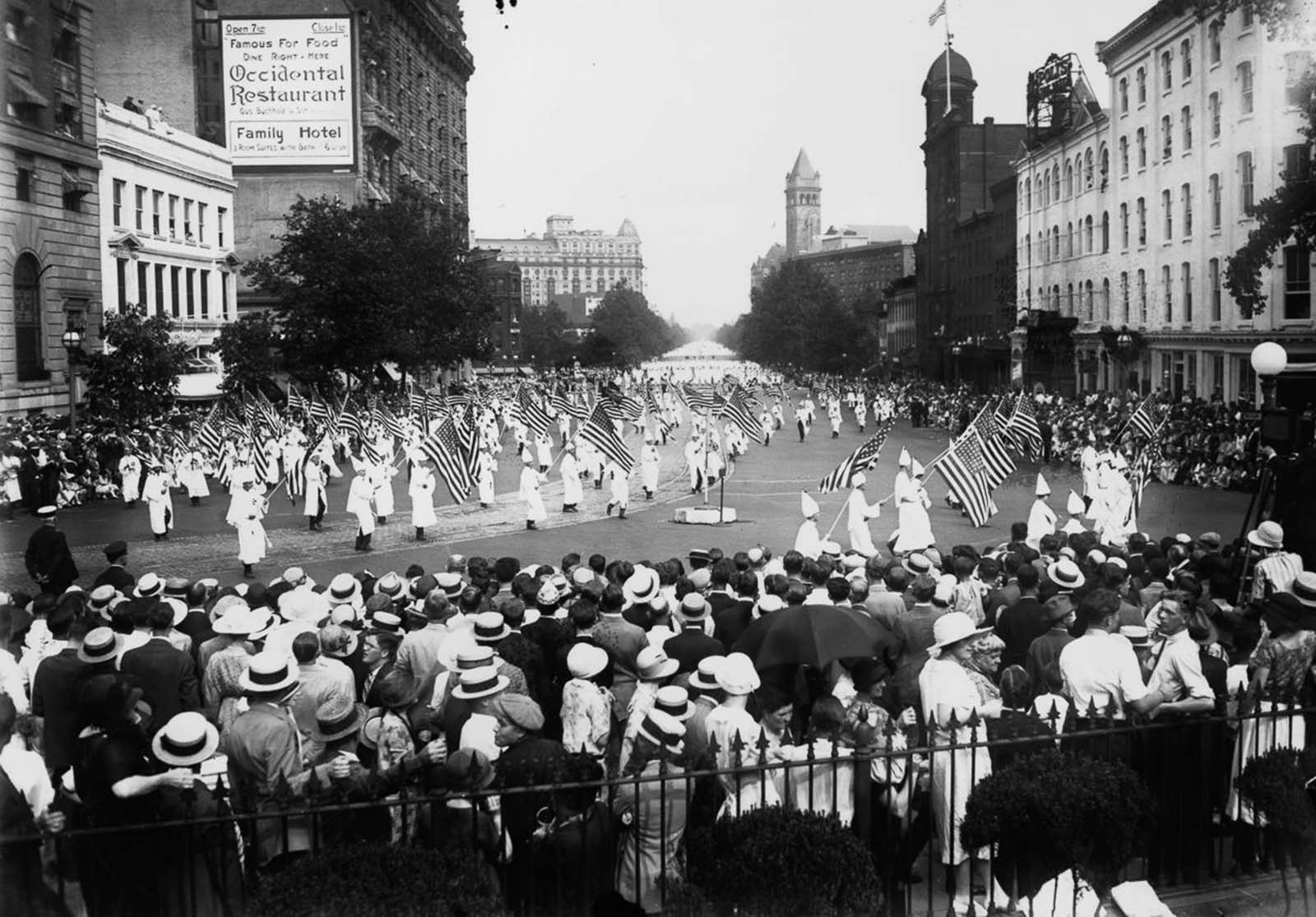 In 1925 and 1926, the Klan descended on Washington, D.C. for two massive marches.