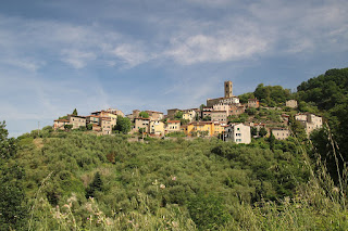 Uzzano perches on a hillside in Tuscany, about 45km (28 miles) to the west of Florence in the province of Pistoia