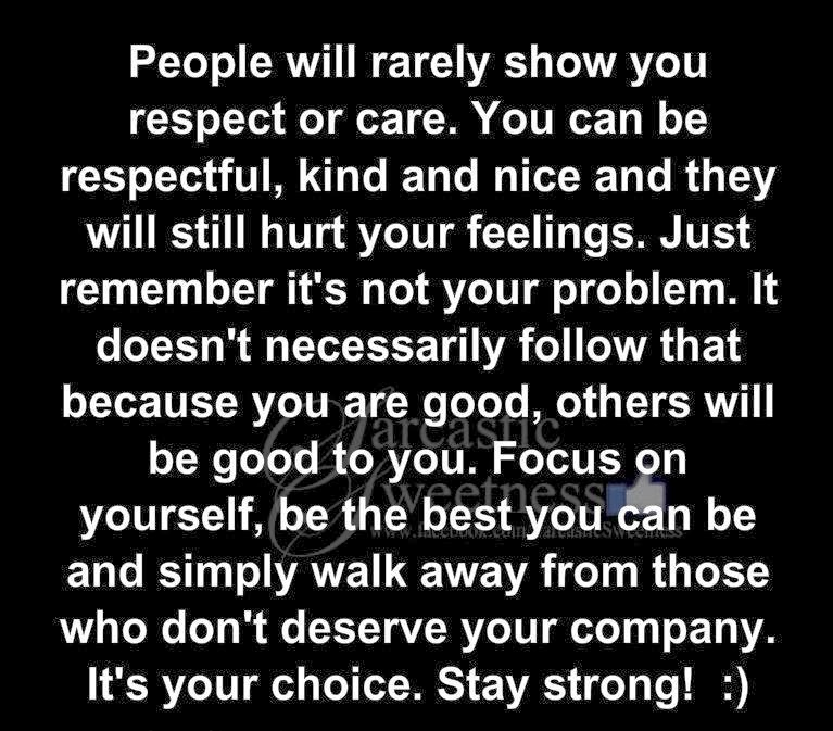 Quotes Inspiration People Will Rarely Show You Respect Or Care