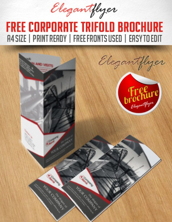 Free Premium Brochure Templates Photoshop PSD InDesign AI - Trifold brochure template psd
