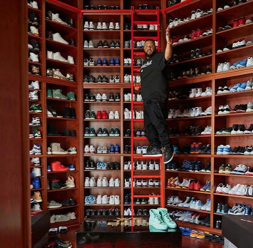 Check Out DJ Khaleds Shoe Closet