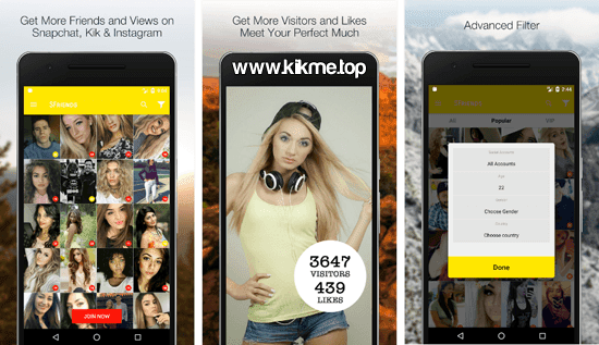 Get Friends for Kik para Android