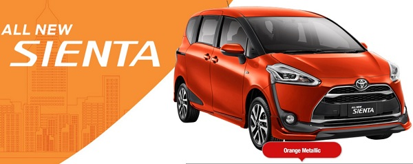 Warna Toyota All New Sienta Orange Metalic