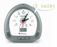 get a talking clock and enjoy it
