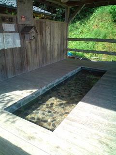 Foot bath at Onoaida Onsen