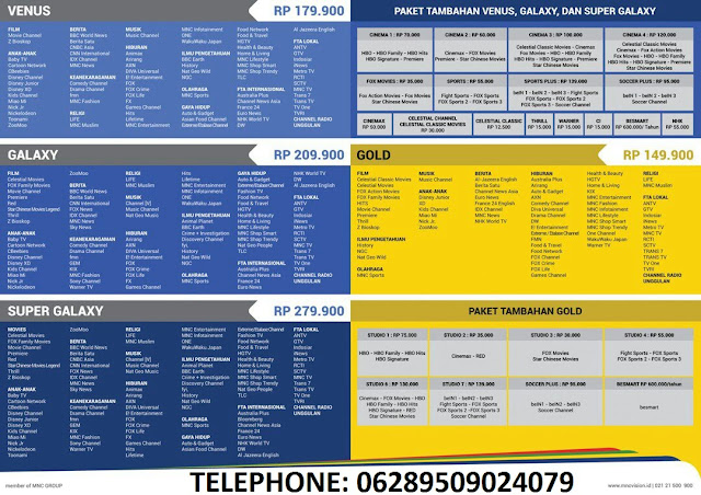 Daftar Harga Paket Super Galaxy Indovision 2018 - 2019
