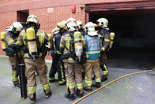 Incendio en los garajes de Lurkizaga