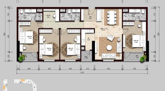 Thiết kế căn hộ 04 ngủ tại The Emerald