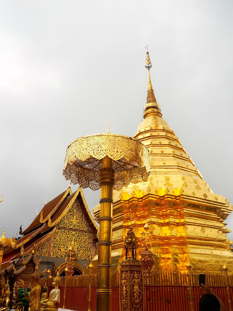 Golden stupa in Wat Phrathat Doi Suthep, Chiang Mai, Thailand