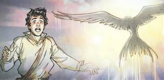 """Dibujo del cómic """"Pájaro indiano"""", de Belén Ortega"""