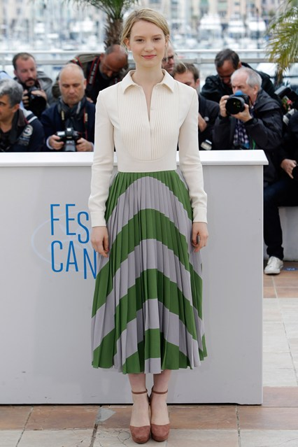 Mia Wasikowska in a Valentino dress at Cannes 2014