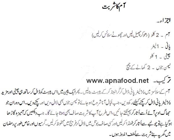 Mango Drinks Recipes In Urdu
