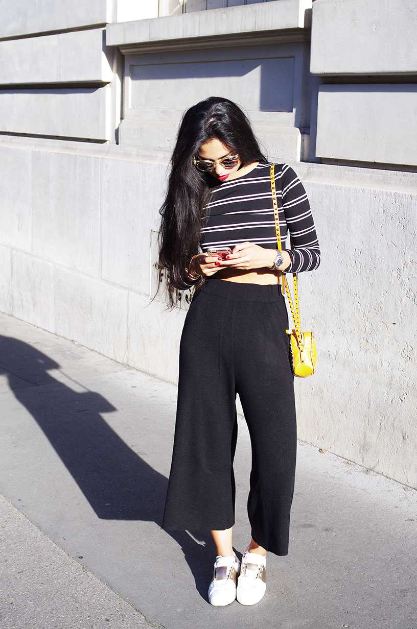 Elizabeth l Fall ribbed trousers outfit l Pantalon maille côtelée Zara Valentino l THEDEETSONE l http://thedeetsone.blogspot.fr