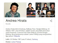 16 Fakta Menarik Andrea Hirata Seorang Penulis Novel Indonesia