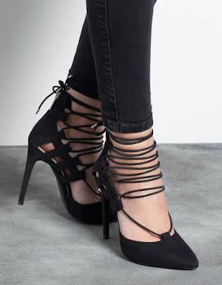 Escarpins lacets Bershka