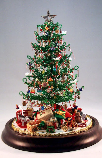Vintage beaded Christmas tree