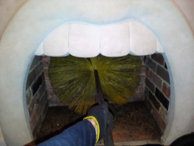 Chimney Sweeping an open fire in Dorset