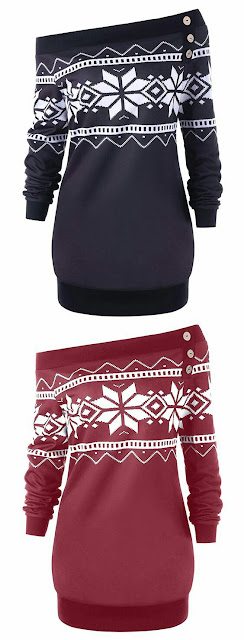 Off-shoulder-snow-flag-plus-size-chirstmas-sweater