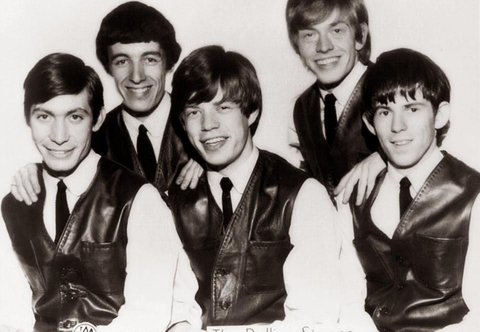 """O grupo Rolling Stones. A música """"Satisfaction"""" fala sobre frustração sexual."""