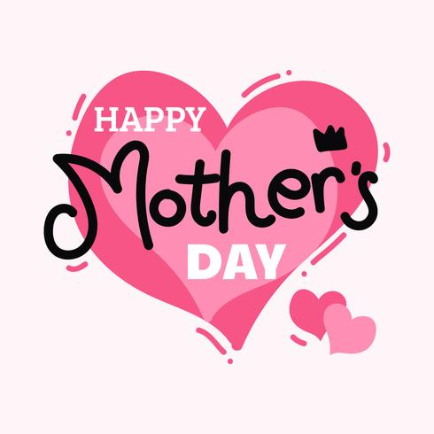 Happy Mothers Day Card free vector