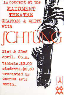 The poster for the 1978 Maidment Theatre gigs