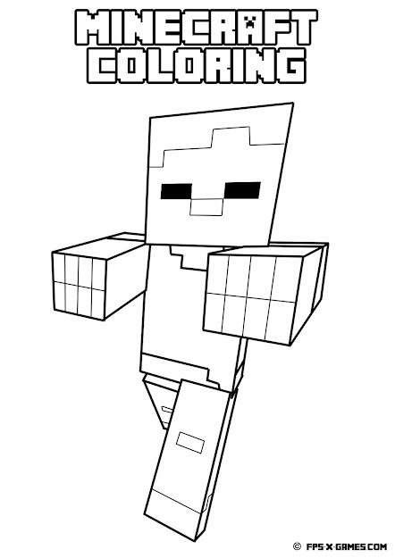Free Printable Minecraft Coloring Pages Printable Coloring Pages Sheets  For Kids Get The Latest Free Free Printable Minecraft Coloring Pages  Images