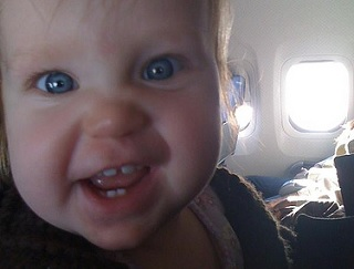 Image: Crazy baby on a plane, by Madgerly on Flickr