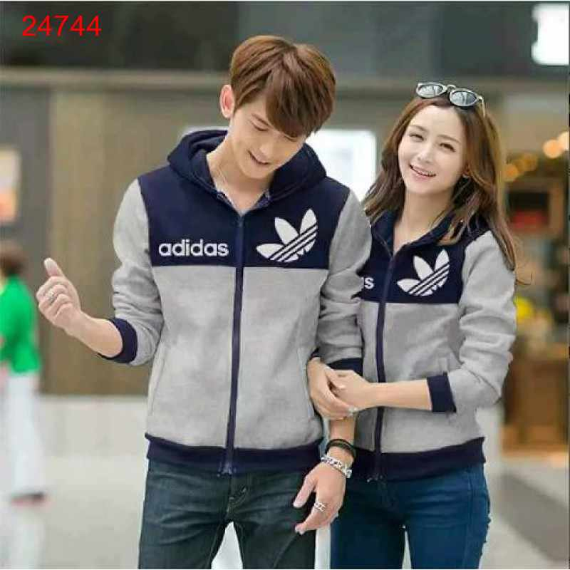 Jual Jacket Couple Jacket Adidas Logo Navy Abu - 24744