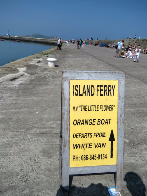 Day trip to Ireland's Eye Island - Island Ferry Sign in Howth Harbor