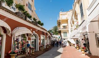 Upscale Shops along Capri Via Camerelle Italy