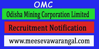 OMC (Odisha Mining Corporation Limited) Recruitment Notification