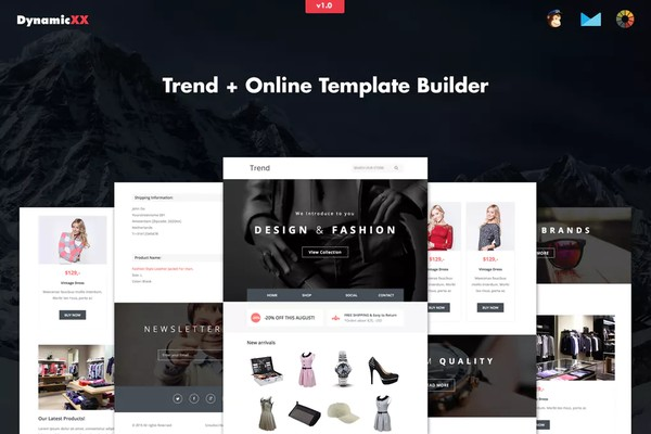 Trend Fashion Email Responsive + Online Builder