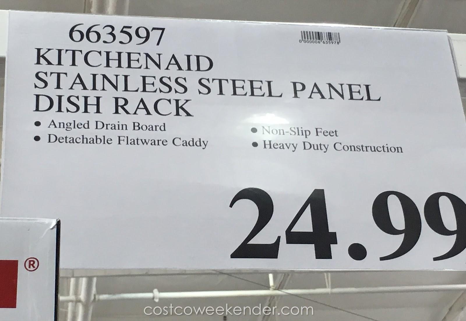Kitchenaid Stainless Steel Dish Drying Rack Costco Weekender