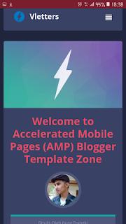 Template AMP blogger gratis vletter