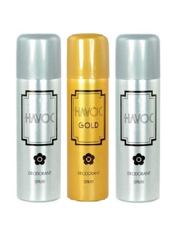 Pack Of 3 - Havoc Gold And Silver Body Spray 200 ml