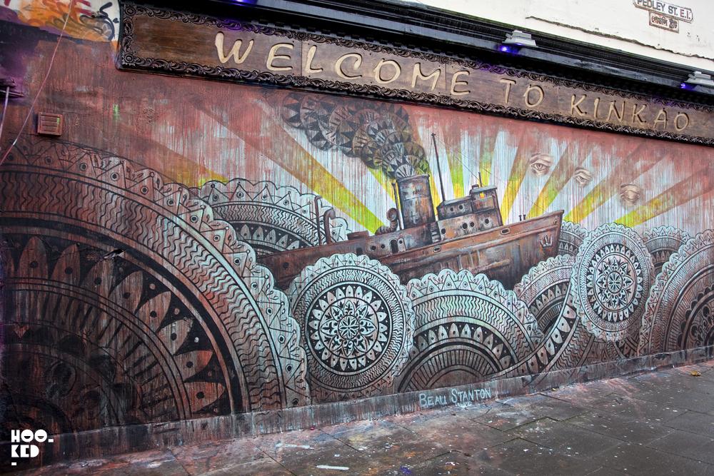 Brick Lane Street Art Mural by American artist Beau Stanton