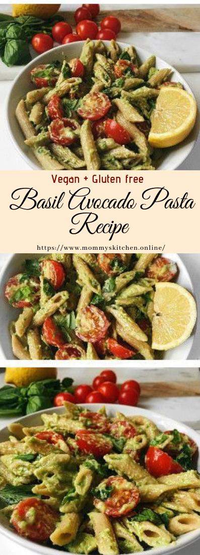 Basil Avocado Pasta Recipe #Vegan #Gluten free