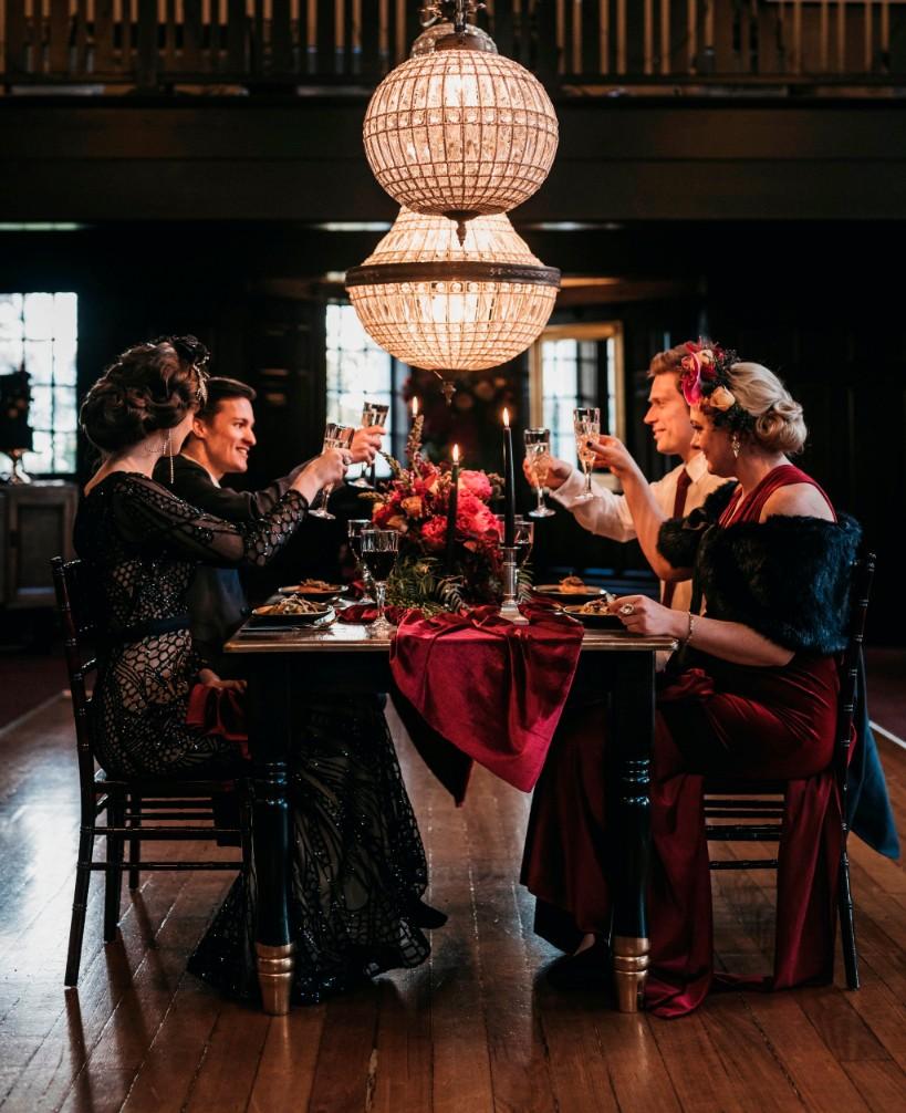 STYLED SHOOT: NOIRE WINTER ROMANCE INSPIRATION   WATTLE PARK CHALET MELBOURNE VIC