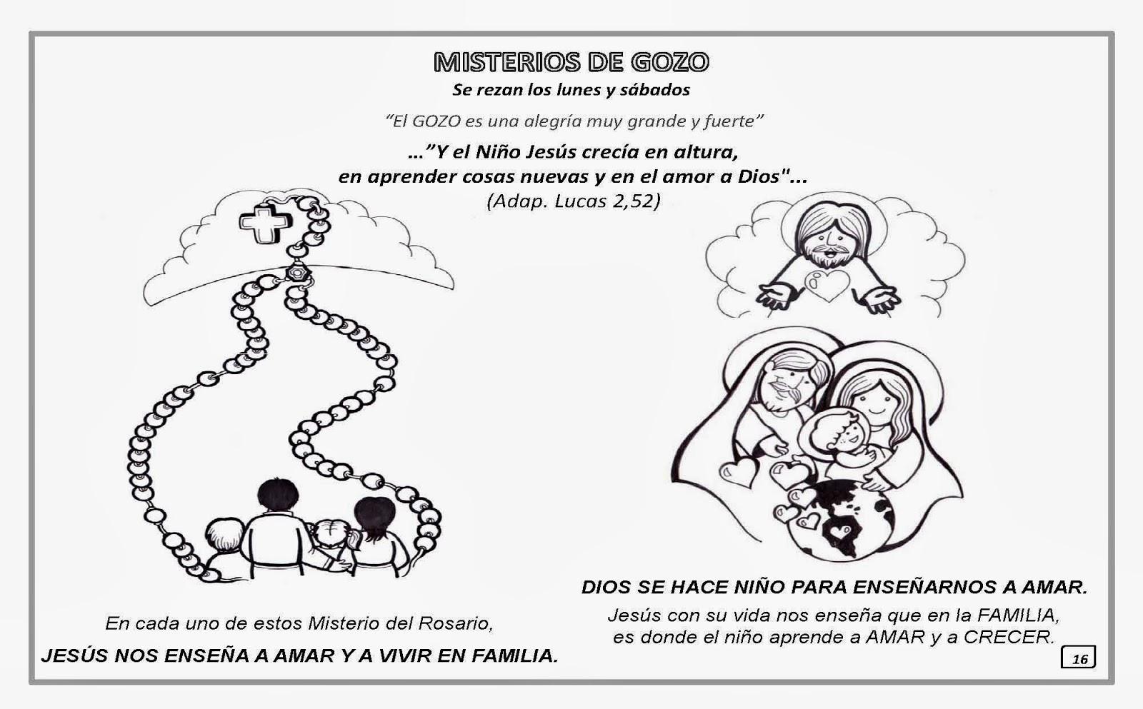 Para Colorear Los Misterios Del Santo Rosario Para Iluminar