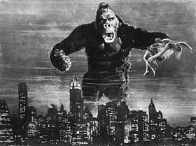King Kong in fear