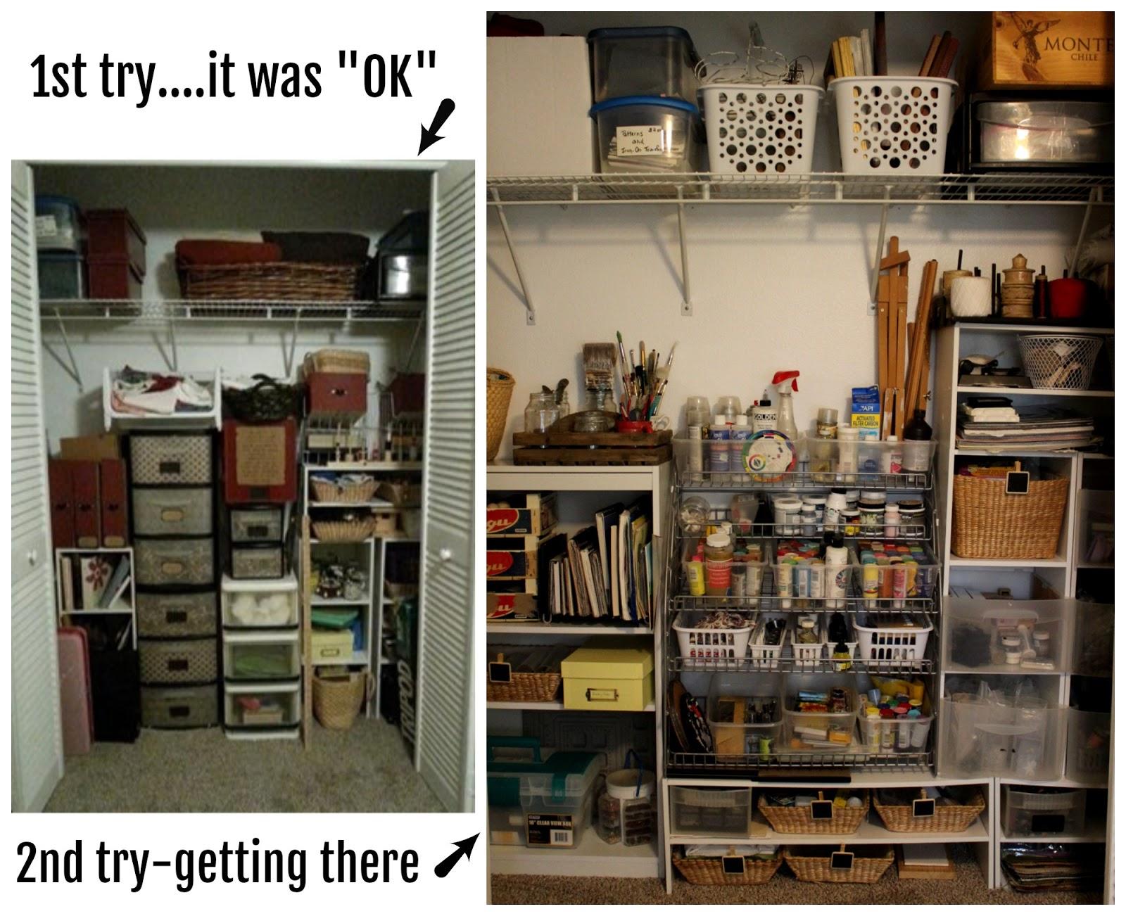 Four Eleven Rox: Craft Closet Organizing